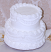Two tier Stacked Wedding Cake 7""