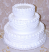 "Three tier Stacked 16"" Wedding Cake"