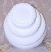 """Three tier Stacked 16"""" Wedding Cake Top View"""