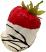 chocolate white swirl fake strawberry