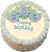 Blue Birthday fake cake TOP