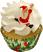 Christmas Fake Santa Cupcake