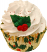 Christmas Fake Holly Cupcake