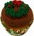 Christmas Fake Wreath Cupcake