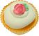 Green Pink Rose Fake Cupcake