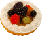 Fruit Fake Tarts 2 inch raspberry