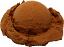 Chocolate fake single scoop ice cream