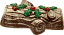 yule log fake food cake dark brown 2
