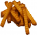 Crinkle cut fake french fries