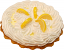 Lemon Cream Artificial Pie with cream