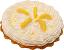 Lemon Cream Artificial Pie with cream