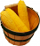 Whole Fake Corn 3 piece with Round basket