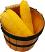 Whole Fake Corn 3 piece with Round basket