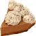 Chocolate Mousse Artificial Pie Slice