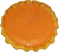 Pumpkin Pie Plain Artificial Pie with Slice Fragranced Top