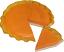 Pumpkin Pie Plain Artificial Pie with Slice Fragranced
