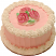 "Pink Rose 6"" Fake Cake Side"