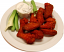 Buffalo Fake Wings Red Sauce Plate 12 Chicken Wings