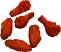 Buffalo Wings Fake Food 6 piece