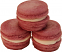 Mauve Fake Macarons (Macaroon) with Cream 3 Pack