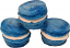Blue Fake Macarons (Macaroon) with Cream 3 Pack