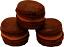 Chocolate Fake Macarons (Macaroon) with Cream 3 Pack