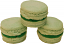 Green Tea Fake Macarons (Macaroon) with Cream 3 Pack