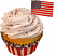 American flag Fake Cupcake Fourth of July Cupcake