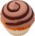Chocolate swirl fake cupcake