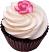 Chocolate Rose Fake Cupcake Vanilla
