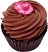 Chocolate Rose Fake Cupcake Chocolate