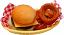 Cheeseburger and onion rings Basket