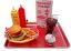 fake food cheeseburger coke car hop large tray