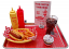 fake food hot dog car hop large tray