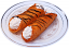 Cannoli Fake Sicilian Dessert 2 piece Chocolate Drizzle B