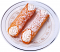 Cannoli Fake Sicilian Dessert 2 piece Powdered Sugar
