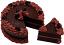fake chocolate cake with slice
