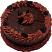 fake chocolate cake with slice B
