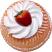 Small Vanilla Bundt Cake Strawberry Fake Food