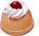 Small Vanilla Bundt Cake Strawberry Fake Food USA
