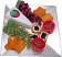 Cheese Tray crackers and grapes fake food