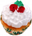 Christmas rose fake cupcake USA