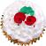 Christmas rose fake cupcake USA top