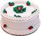 "9"" Christmas Vanilla Holly Fake Cake"