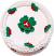 """9"""" Christmas Vanilla Holly Fake Cake Top"""