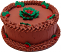 "9"" Christmas Chocolate Holly Fake Cake"