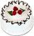 "Vanilla Raspberry 6"" Drizzle Fake Cake"