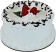 "Vanilla Raspberry 6"" Drizzle Fake Cake side"
