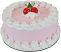 Cherry fake cake 9 inch USA side