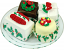 Mini Christmas Fakey Cakes 4 pack Petit Fours